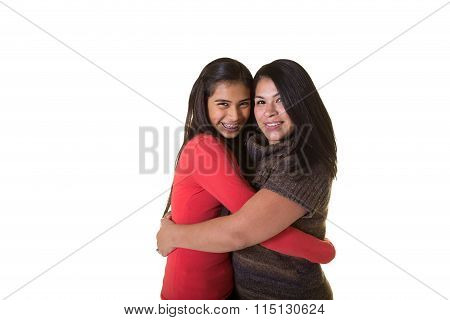 A mother and her teen daughter