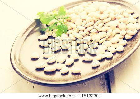 Vintage Photo Of Bean Grain