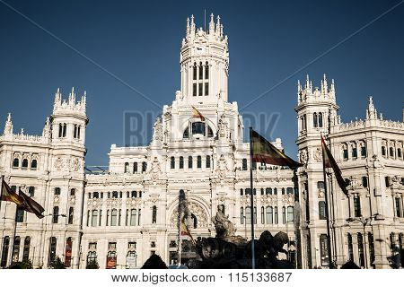 Madrid, Spain - 15, June,2014:plaza De Cibeles, Madrid, Spain