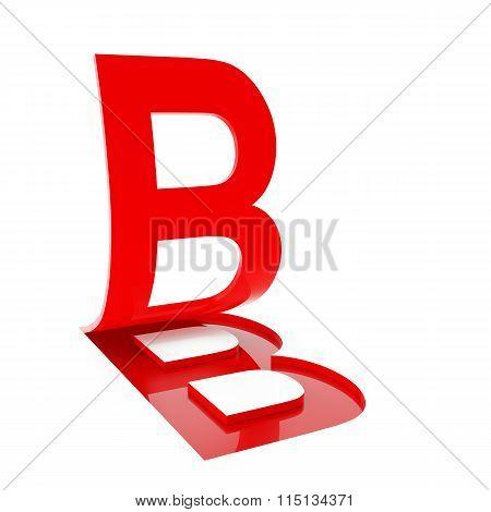 Letter B, 3d render