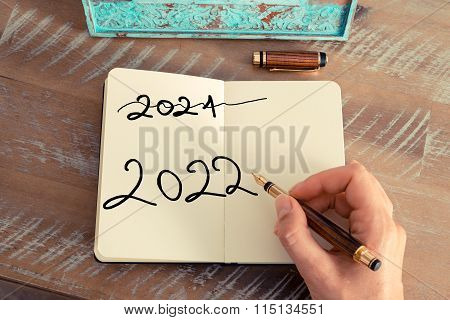 Handwritten Text Happy New Year 2022