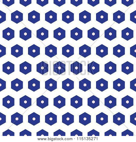Blue and white moroccan seamless pattern.