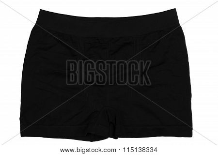 Black Men's Boxer Briefs Isolated On A White Background