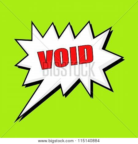 Void Wording Speech Bubble