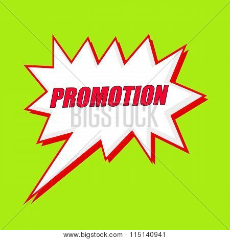 Promotion Wording Speech Bubble