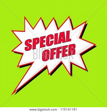 Special Offer Wording Speech Bubble