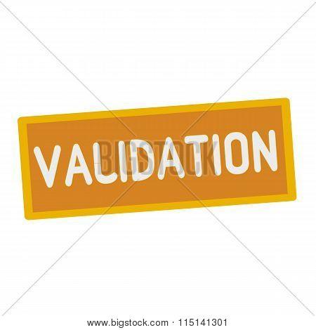 Validation Wording On Rectangular Signs