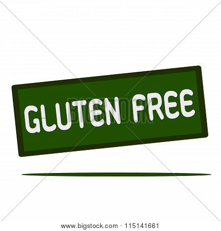 Gluten Free Wording On Rectangular Signs