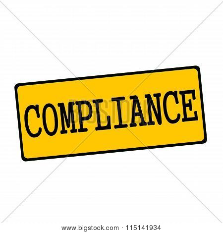 Compliance Wording On Rectangular Signs
