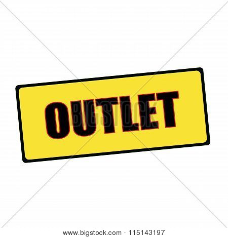 Outlet Wording On Rectangular Signs