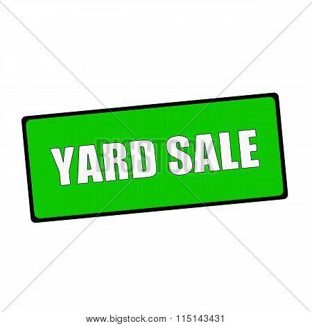 Yard Sale Wording On Rectangular Green Signs