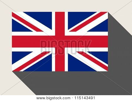 United Kingdom flag in flat web design style.