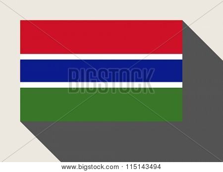Gambia flag in flat web design style.