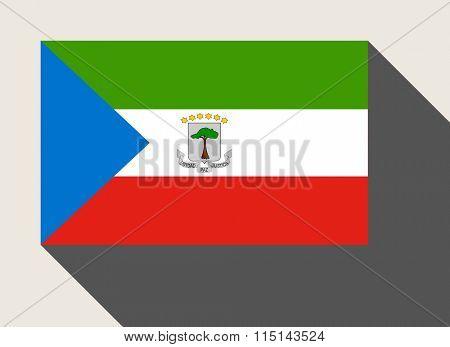 Equatorial Guinea flag n flat web design style.