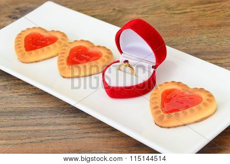 Cookies in the Shape of Hearts.