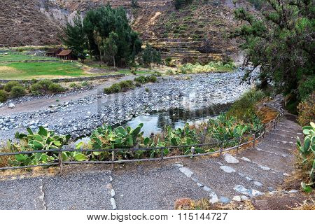 thermal spring, river and hiking trails