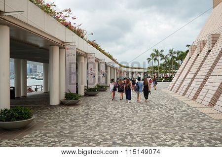 HONG KONG - MAY 06, 2015: southern tip of the Kowloon peninsula. Kowloon is an urban area in Hong Kong comprising the Kowloon Peninsula and New Kowloon