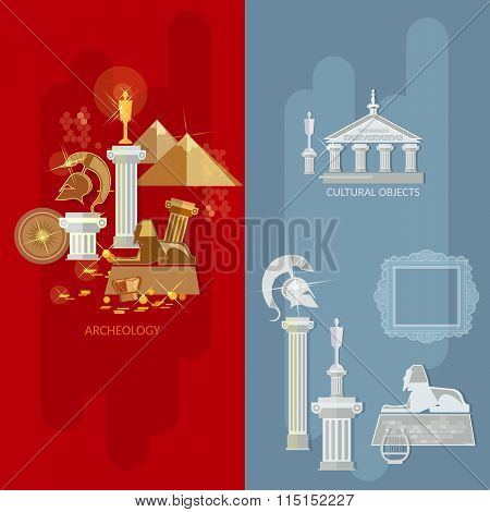 Art Gallery Banners Antique Museum Exhibition Ancient Civilizations World Culture