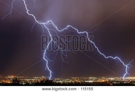 poster of Lightning Over The City