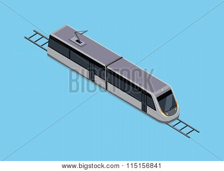Isometric Illustration of a Subway Train
