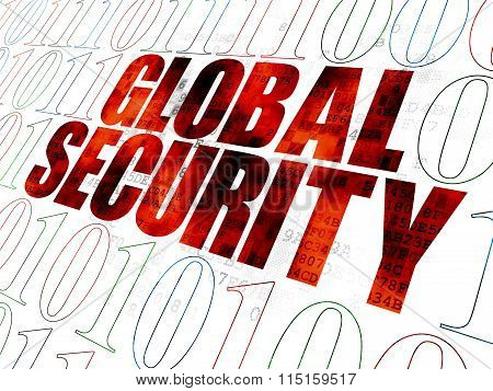 Security concept: Global Security on Digital background