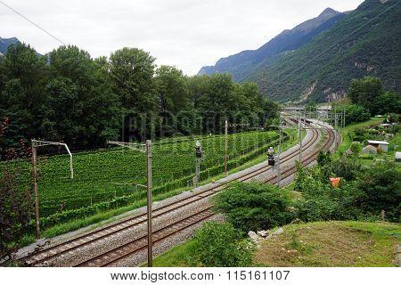 Railway In Valley