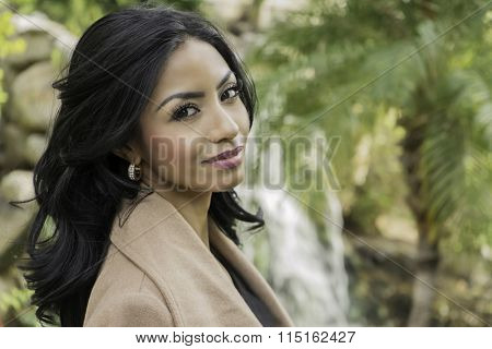 Beautiful elegant young woman