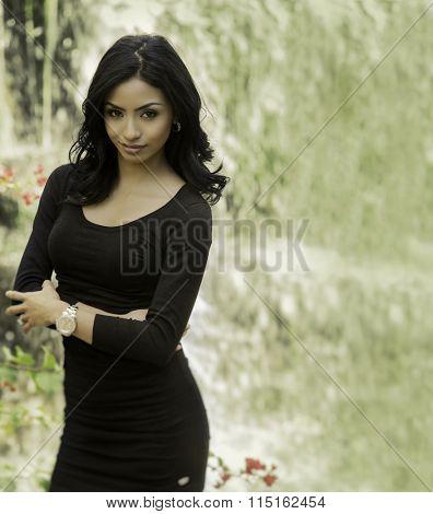 Elegant beautiful young woman