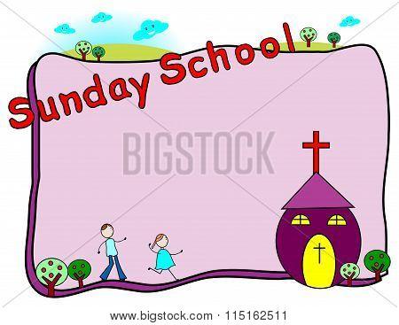 Sunday school frame