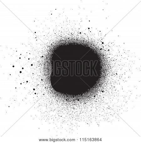 Spray Effect Design Element In Black On White