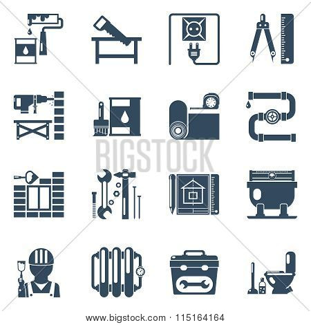 Home Repair Black Icons Collection
