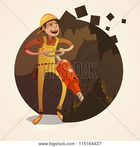 Mining concept illustration