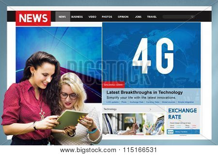 4G Technology Communication Networking Internet Online Concept