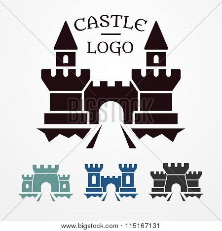 Castle logo set