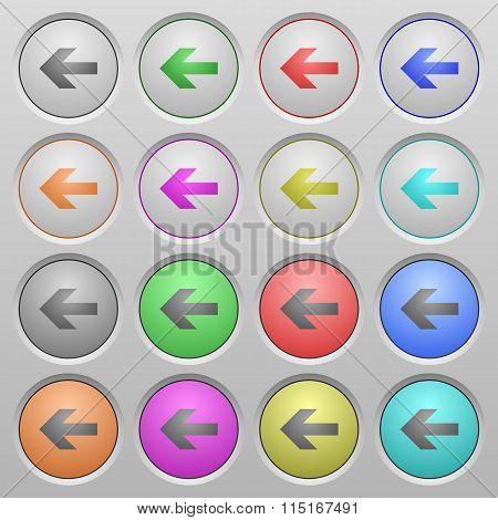 Left Arrow Plastic Sunk Buttons