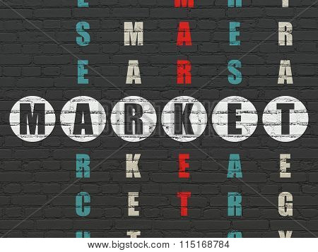 Marketing concept: Market in Crossword Puzzle