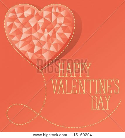 vector card with heart for valentines day
