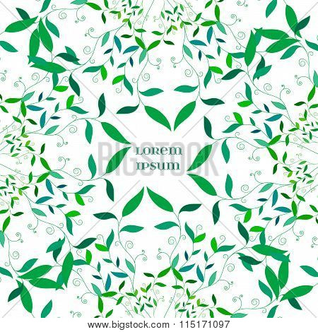 Vector Abstract Floral  Green Background