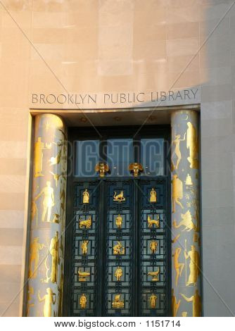 The Facade Of The Brooklyn Public Library