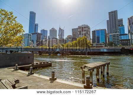 Melbourne view from old dock