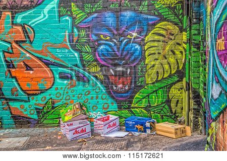Melbourne graffiti panther