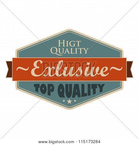 Top quality blue vintage banner