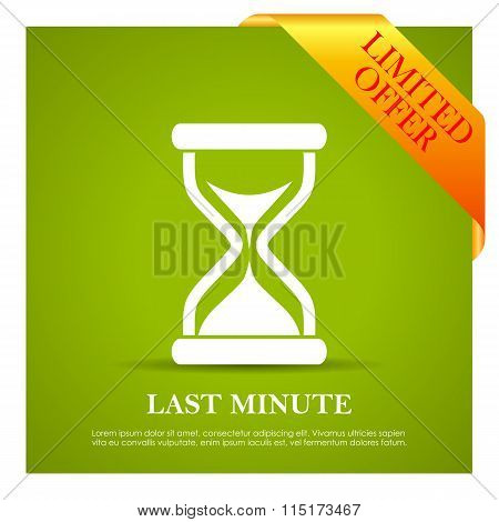 Last minute offer poster