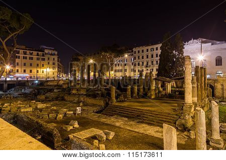 Largo Di Torre Argentina Ruins In Rome