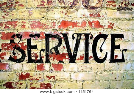 "Peeling ""Service"" Sign"