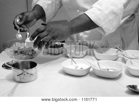 Chef Preparing Sauce