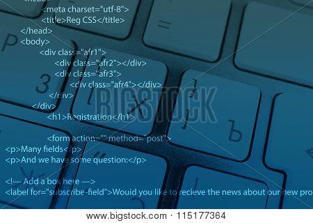 Computer keyboard with program code