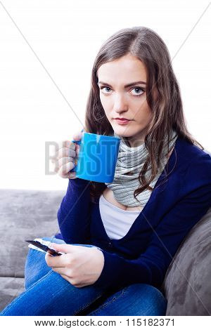 Young Woman Having Flu