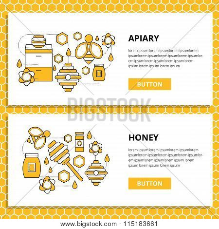 Apriary vector set website banner