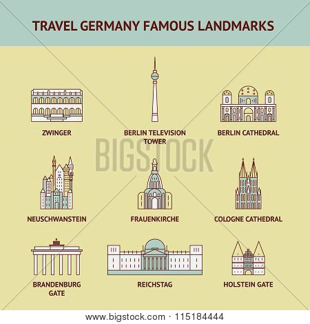 Travel Germany famous landmarks